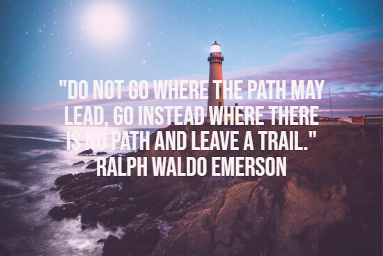 Emerson about life and leaving a trail
