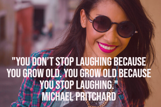 Laughing and growing old