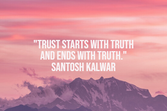 Quote about trusting