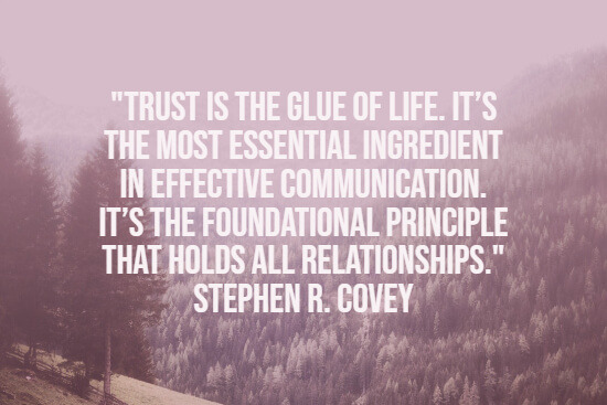 Insightful trust quote