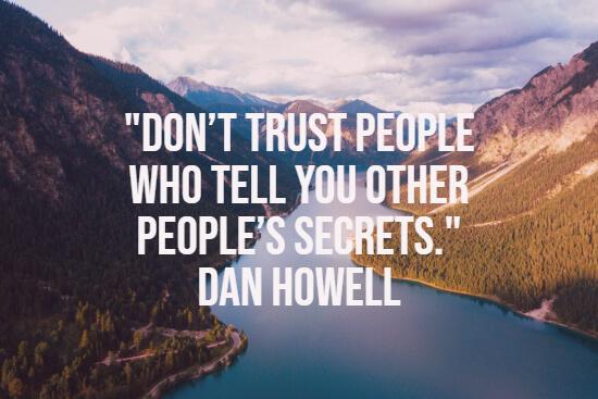 Trust and secrets