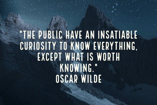 Wise Oscar Wilde quote