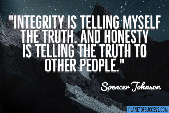 Honesty is telling the truth quote