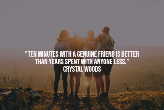 Quote about genuine friend