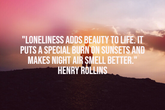 Feeling lonely quote