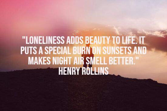 感觉很孤独