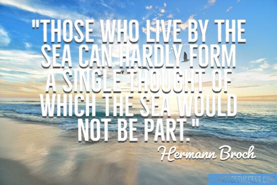 Those who live by the sea quote