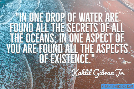 One drop of water quote