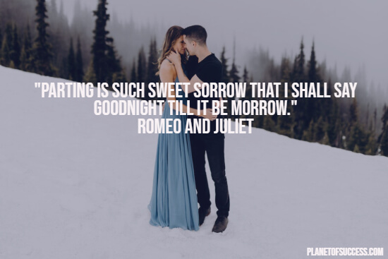 Romeo and Juliet quote about parting