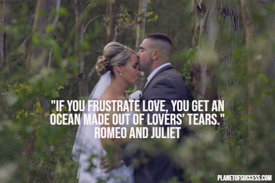Romeo and Juliet quote about frustrating love