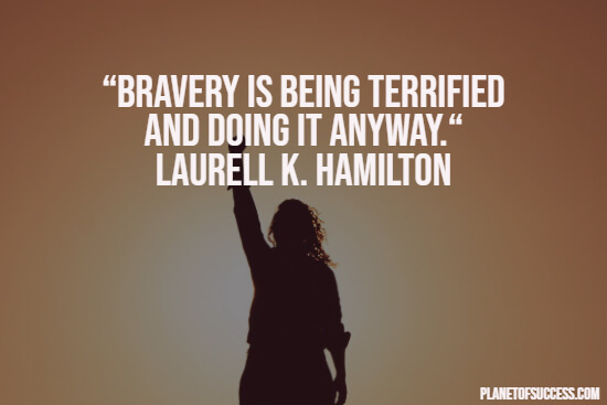 Anxiety quote about bravery