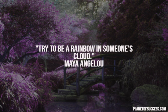 Beautiful quote about being a rainbow
