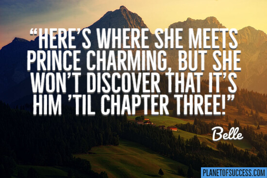 Here's where she meets Prince charming quote