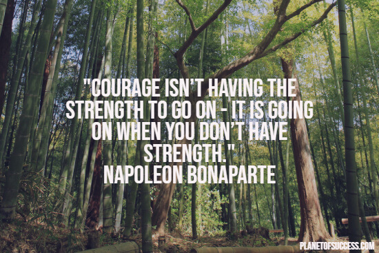 The strength to go on quote