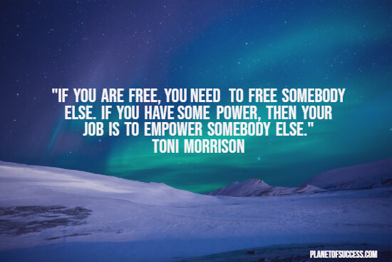 Freeing others quote