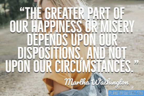 The greater part of our happiness quote