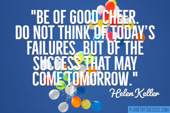 Be of good cheer quote