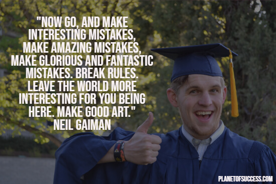 inspirational graduation quotes planet of success