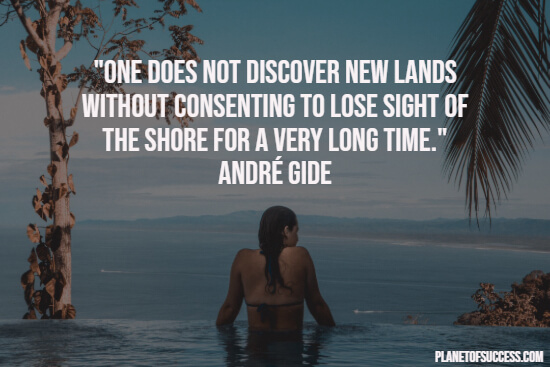 Travel quote about discovering new lands