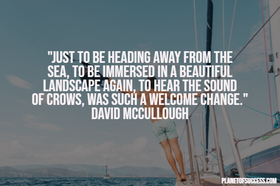 Quote about traveling the sea