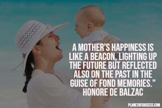 Happiness of a mother quote