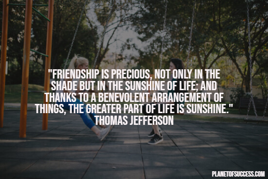Quote about the preciousness of friendship