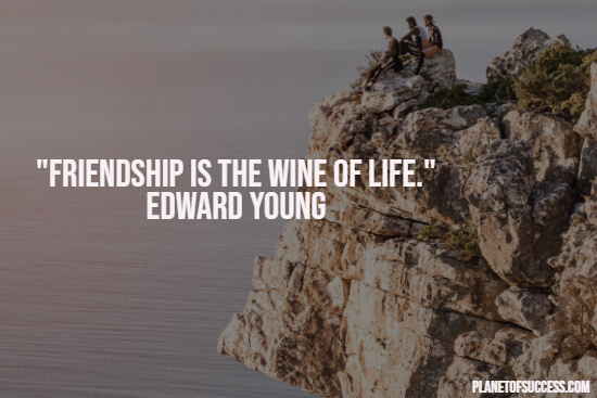Friendship is the wine of life quote