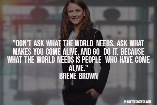 Inspirational Brené Brown quote