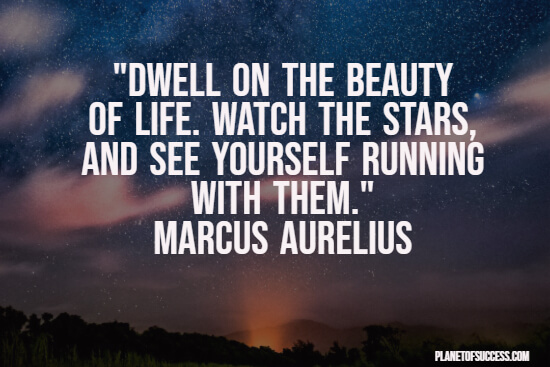 Dwell on the beauty of life quote