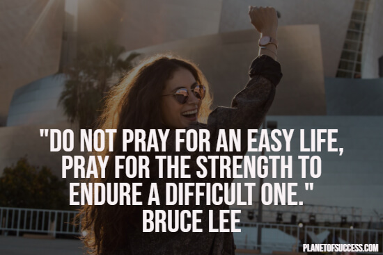 Praying for an easy life quote