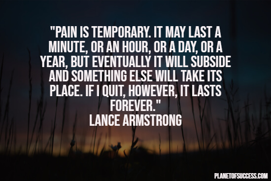 Strong quote about pain