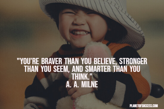 Brave Winnie the Pooh quote