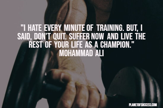 Workout motivation quote