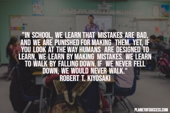 School quote about mistakes
