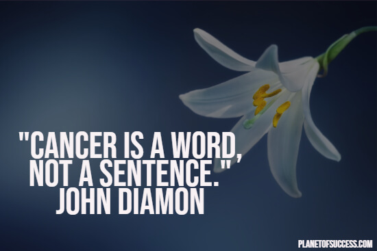 Uplifting cancer quote