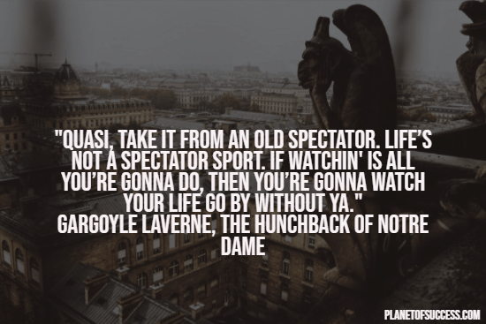 Quote about being a spectator
