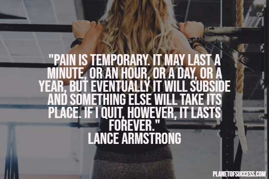 Temporary pain quote