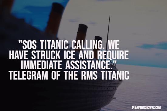 SOS Titanic quote
