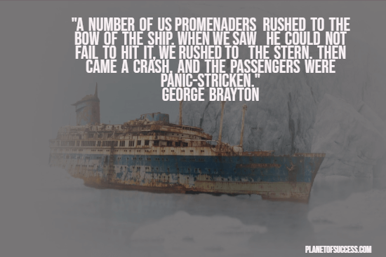 Quote about Titanic disaster