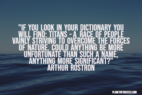 Titan quote about the Titanic