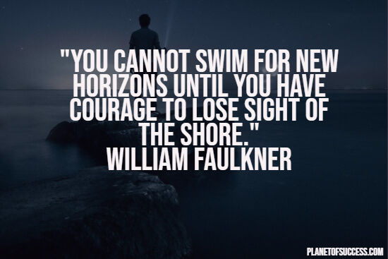 Swimming for new horizons quote
