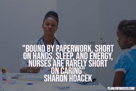 Inspirational nurse quote
