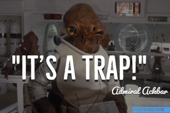 It's a trap quote