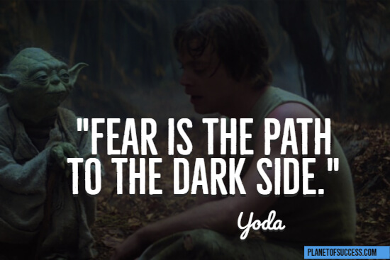 The path to the dark side quote