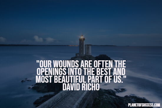 Healing quote about wounds
