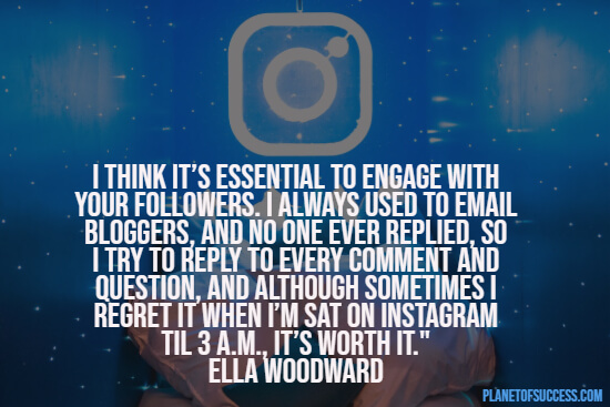 Engaging with your followers quote