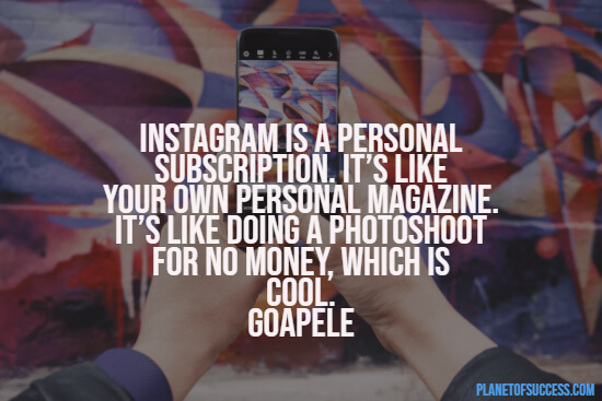 Quotes about Instagram