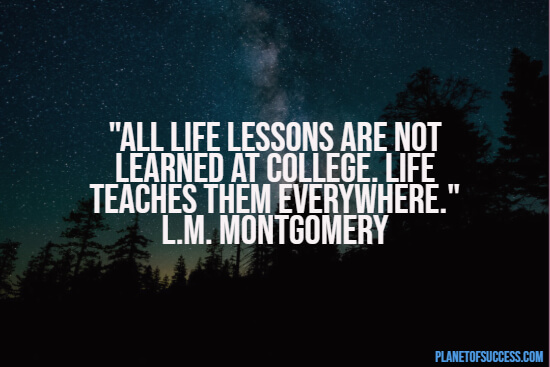 Quote about life lesson