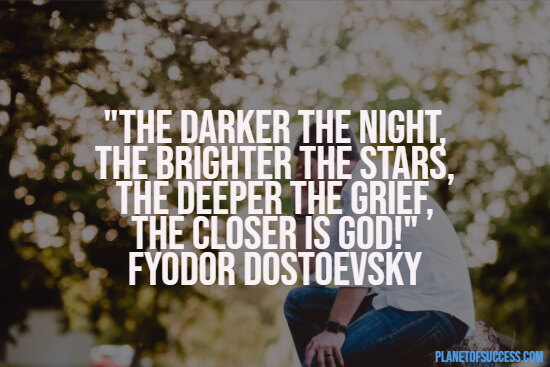 The darker the night quote