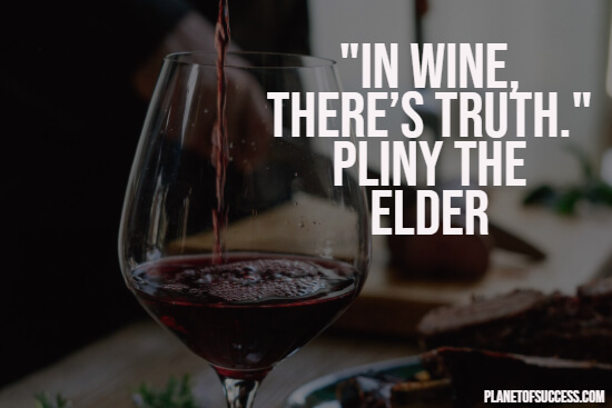 Truth in wine quote
